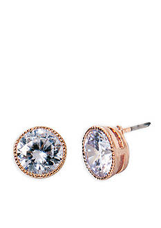 Lauren Ralph Lauren Rose Gold-Tone Social Crystal Stud Earrings
