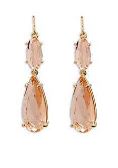Lauren Ralph Lauren Gold-Tone Mad About Hue Topaz Double Drop Earrings