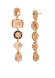 Lauren Ralph Lauren Gold-Tone Mad About Hue Topaz Linear Earrings