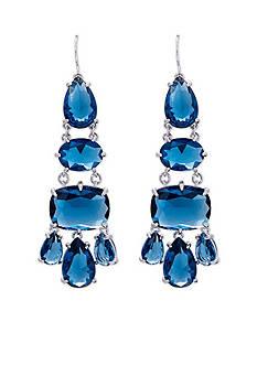 Lauren Ralph Lauren Mad About Hue Blue Chandelier Pierced Earrings
