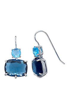 Lauren Ralph Lauren Mad About Hue Blue Short Double Drop Pierced Earrings