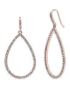 Lauren Ralph Lauren Rose Gold-Tone Palais Pave Teardrop Earrings