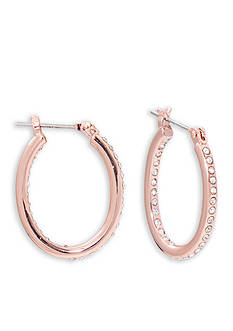 Lauren Ralph Lauren Rose Gold-Tone Palais Small Oval Hoop Earrings