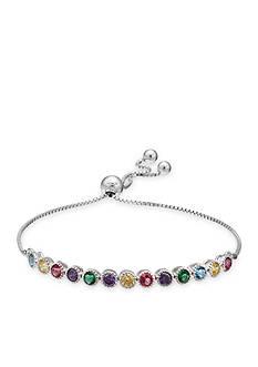 Belk Silverworks Colorful Cubic Zirconia Friendship Bracelet