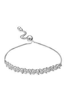 Belk Silverworks Fine Silver Plated Cubic Zirconia Friendship Bracelet