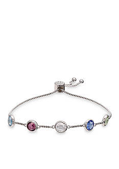 Belk Silverworks Fine Silver Plated Multi-Bright Swarovski Crystal Adjustable Bracelet