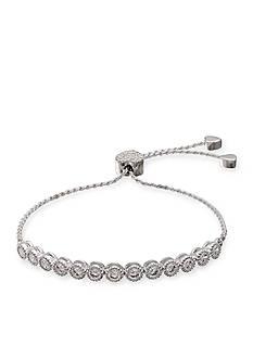Belk Silverworks Fine Silver Plated Cubic Zirconia Adjustable Bracelet