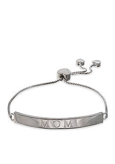 Belk Silverworks Fine Silver Plated 'Mom' Bar Adjustable Bracelet