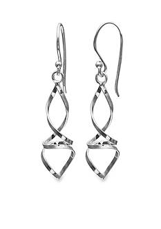 Belk Silverworks Sterling Silver Twisted Drop Earring