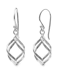 Belk Silverworks Sterling Silver Double Tear-Drop Earrings