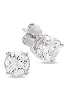 Belk Silverworks Sterling Silver 12-mm. Cubic Zirconia Stud Earrings