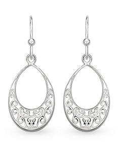 Belk Silverworks Sterling Silver Drop Filigree Earrings