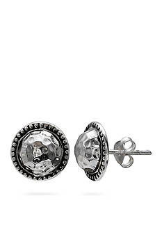 Belk Silverworks Sterling Silver Hammered Beaded Stud Earrings