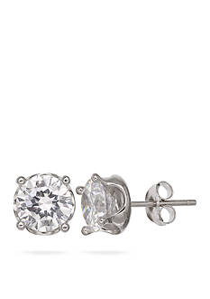 Belk Silverworks Silver-Tone Cubic Zircoina Stud Earrings