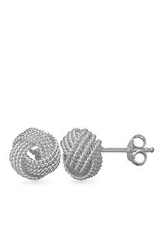 Belk Silverworks Twisted Rope Love Knot Stud Earrings