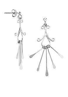 Belk Silverworks Scrolling Drop Earrings