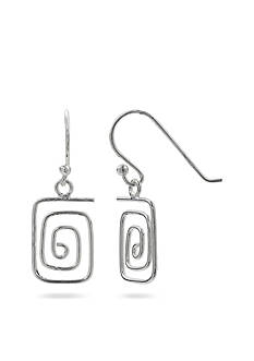 Belk Silverworks Sterling Silver Square Wrap Drop Earrings