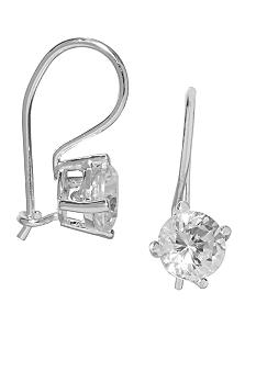 Belk Silverworks Sterling Silver Round CZ Drop Earrings