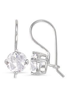 Belk Silverworks Sterling Silver 7-mm. Round Cubic Zirconia Earrings