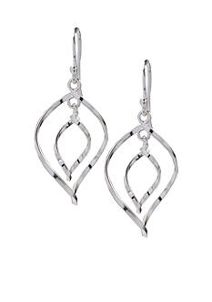 Belk Silverworks Double Twist Drop Earrings