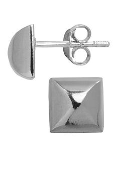 Belk Silverworks Polished Pyramid Stud Earrings