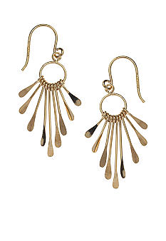 Belk Silverworks 24KT Gold Over Sterling Silver Paddle Drop Earrings