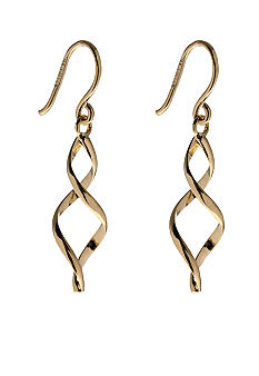 Belk Silverworks Gold Over Sterling Silver Swirl Drop Earrings