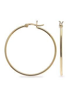 Belk Silverworks Gold Plated Sterling Silver Hoop Earrings