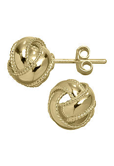 Belk Silverworks 24KT Gold Over Sterling Silver Love Knot Stud Earrings