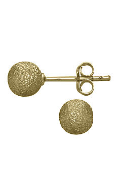 Belk Silverworks Gold Plated Textured Ball Stud Earrings