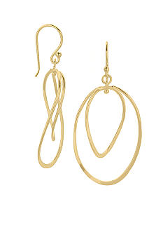 Belk Silverworks 24 Karat Gold Over Sterling Silver Oval Drop Earrings
