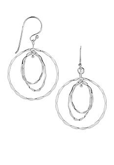 Belk Silverworks Fine Silver Plate Triple Circle Drop Earrings