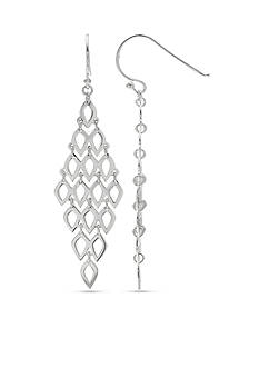 Belk Silverworks Fine Silver Plated Kite Drop Earrings