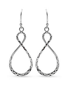 Belk Silverworks Drop Figure 8 Diamond Cut Earrings