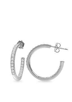 Belk Silverworks Silver Plated Hoop Earring