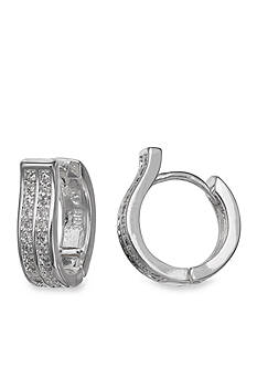 Belk Silverworks Cubic Zirconia Hoop Earring
