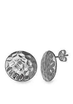 Belk Silverworks Textured Polished Stud Earring