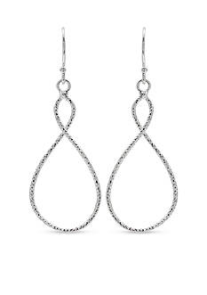 Belk Silverworks Fine Silver Plated Infinity Drop Earrings