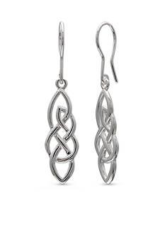 Belk Silverworks Fine Silver Plated Filigree Drop Earrings