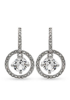Belk Silverworks Fine Silver Plated Swarovski Crystal Round Drop Earrings