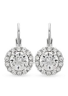 Belk Silverworks Fine Silver Plated Swarovski Crystal Drop Earring