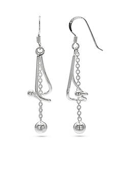 Belk Silverworks Fine Silver Plated Twisted Drop Earrings