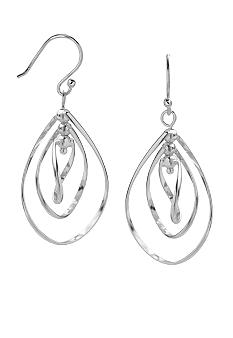 Belk Silverworks Fine Silver Plated Triple Teardrop Dangle Earrings