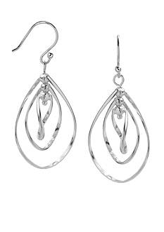 Belk Silverworks Fine Silver-Plated Triple Teardrop Dangle Earrings