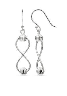 Belk Silverworks Figure 8 Drop Earrings