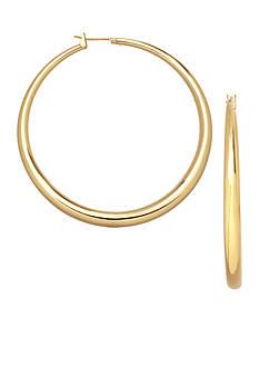 Belk Silverworks 24KT Over Fine Silver Plate 40mm Round Graduated Hoop Earrings