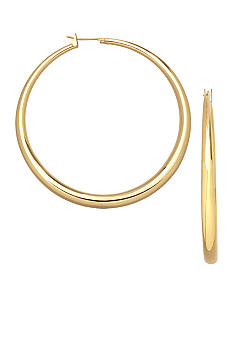 Belk Silverworks 24KT Over Fine Silver Plate 50mm Graduated Round Hoop Earrings