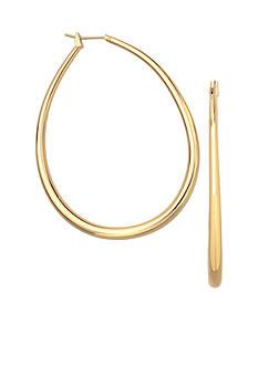 Belk Silverworks 24kt Over Fine Silver-Plated 45-mm. Oval Graduated Hoop Earrings