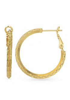 Belk Silverworks 24k Gold Over Fine Silver-Plated 30-mm. Hoop Earrings