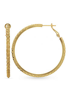 Belk Silverworks 24k Gold Over Fine Silver-Plated 45-mm. Hoop Earrings